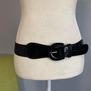 Accessories - Black Stretch Buckle Belt